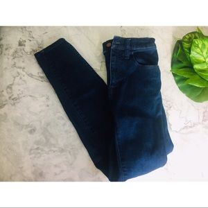"Madewell 25 10"" high rise skinny jeans"